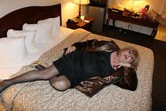 new111855-IMG_6230t (Misscherieamor) Tags: tv feminine cd motel lingerie furcoat tgirl transgender mature sissy tranny transvestite crossdress ts gurl tg travestis travesti travestie m2f onbed xdresser tgurl vintagefullslip