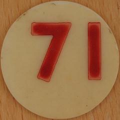 Bingo Number 71 (Leo Reynolds) Tags: xleol30x squaredcircle number numberbingo xsquarex bingo lotto loto houseyhousey housey housie housiehousie numberset 71 sqset120 70s canon eos 40d xx2015xx xxtensxx sqset