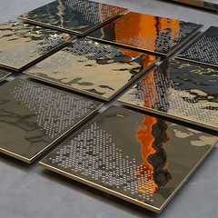 Ceiling Cassettes with 3D Water Finish (Detlef Schobert) Tags: en water 3d construction pattern steel interior dry ceiling decke finish suspended cassette stainless false fittings perforation 304 kassette innenausbau aisi rostfrei edelstahl 14301 goldcolored trockenbau kassettendecke goldfarben chromnickelstahl abgehängte exyd chromiumnickel exydm wasseroptik musterperforation wwwexydcom