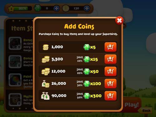 Mobile games Virtual currency Bank: screenshots, UI