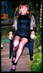 P1090623 (christinadewitt20003) Tags: sexy stockings panties eyes legs transvestite upskirt trans crossdresser lbd littleblackdress holdups