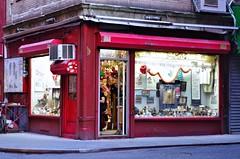 Nice, In a Neglected Urban Vignette Way. (sjnnyny) Tags: souvenirs downtown storefront streetphoto local curiosities shopfront pellstreet stevenj manhattanchinatown pentaxk5iis sjnnyny eveningchinatown