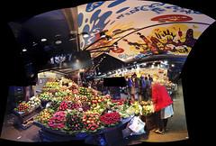 IMG_5714 Mercado de La Boqueria  2015 Paul Light (Paul Light) Tags: barcelona autostitch spain larambla openairmarket mercadodelaboqueria