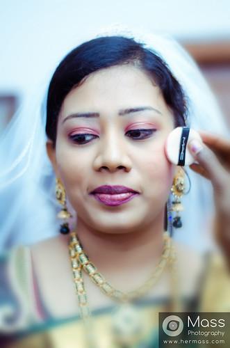 Cinthia Preparation for Wedding