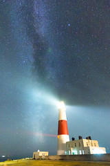 Portland Bill and the Milky Way (mpelleymounter) Tags: nightsky milkyway portlandbill seaandsky portlanddorset dorsetcoastline dorsetlandscape dorsetnightsky markpelleymounter wwwphotomarkscouk