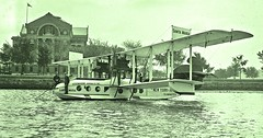 Flying Boat 'Santa Maria' arrives at Hains Point May 5, 1922 LOC06549u (SSAVE w/ over 7 MILLION views THX) Tags: f5l flyingboat airliner aeromarineairways washingtondc 1922 potomacriver hainspoint armynavywarcollege santamaria