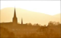 Edinburgh Skyline (Edinburgh Photography) Tags: edinburgh city skylin sunlight sepia monochrome inverleith park nikon d7000