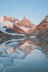 Flip it ([Alexandre]) Tags: icebergs patagonia sunrise cerrotorre nationalpark argentina xt1 laguna vacation explore backpacking adventure travel fuji lake orange losglaciares elchalten xf1855 fujifilm santacruz ar