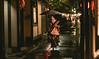 Kyoto, Japan (Aicbon) Tags: verde pontocho kyoto kioto geisha maiko japan japon hanamachi district people persona gente raining night street lluvia noche nocturna 50mm canon eos 500d f14 pontochō tradition tradicional casasdete pontochostreet pontochoalley