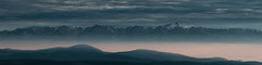 Fog and mountains (Milen Mladenov) Tags: 2016 bulgaria d3200 landscape montana nikon ogosta panorama clouds cold fog haze hills mountains nature peaks reservoir snow sun sunset view winter