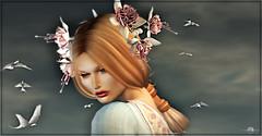╰☆╮Portrait╰☆╮ (яσχααηє♛MISS V♛ FRANCE 2018) Tags: lode opale lelutka deetalez roxaanefyanucci lesclairsdelunedesecondlife lesclairsdelunederoxaane appliers bento headmesh mesh portrait pileup face