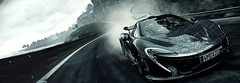 Project CARS (ConnecteD\_) Tags: project cars car slightly mad studios screenshot mclaren p1 outdoor rain high speed track wide vehicle road