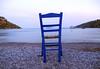 Gazing (Elisabeth Arvaniti) Tags: greece fokida sea beach seaside blue chair port boat sky summer gazing outdoor view stillness object