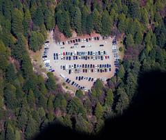 Car lot (snowyturner) Tags: aerial yosemite california cars trees shadows glacierpoint