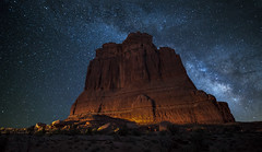 Courthouse (Night Scapes) Tags: milkyway steverengers courthousebutte archesnationalpark nightsky nightphotography nightscape
