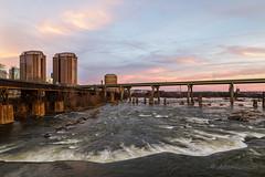 Late Light Over James River (John H Bowman) Tags: virginia richmond sunsets riversandstreams jamesriver reflections skylines bridges january2017 january 2017 sigma2414art explore