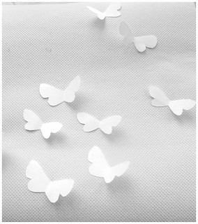 White paper butterflies