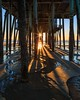 Sunrise at Old Orchard Beach Pier (ejmoreno783) Tags: 2017 emotakespictures old orchard beach pier sunrise morning sand sea ocean sun flare sunburst starburst shadows