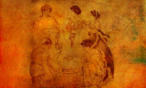 "Petteia - Ludus Latrunculorum  / Iconografía de las civilizaciones helenolatinas • <a style=""font-size:0.8em;"" href=""http://www.flickr.com/photos/30735181@N00/32522180985/"" target=""_blank"">View on Flickr</a>"