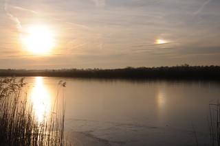 Drei Sonnen sah ich am Himmel stehn... Sonne mit rechter Nebensonne; Meggerdorf, Stapelholm (2)