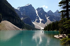 In harmony with nature or What we need for happiness (mark.paradox) Tags: canada alberta banff national park lake mountains water scenery reflection tenpeaksvalley landscape harmony happiness view travel hike trees boat snow beauty канада морейн озеро пейзаж горы гармония природа отражение вид wow