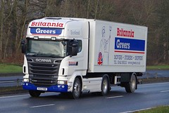 SCANIA R560 V8 - BRITANNIA GREERS Removals Elgin (scotrailm 63A) Tags: lorries trucks removals
