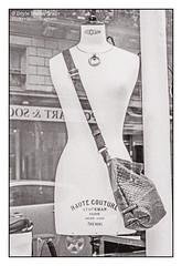 Haute Couture, Stockman, Paris (Doyle Wesley Walls) Tags: lagniappe 0562 storefront paris fashion bag photograph doylewesleywalls mannequin femaleform