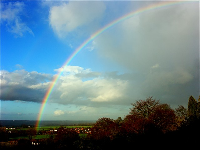 rainbow over the Vale