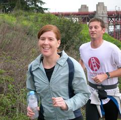 Trail running near the Golden Gate Bridge