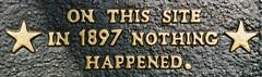 Let's Celebrate Our History! (Jeff Holbrook) Tags: sign star site funny nothing jeffholbrook