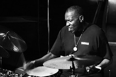 Elvin Jones (Belltown) Tags: bw music live performance jazz elvinjones interestingness473 i500 explore09mar06