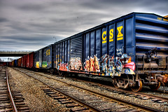 train2.jpg (Lawrence Whittemore) Tags: road railroad sky contrast train dark gloomy grafiti bangor maine tracks rail trains hdr top20rrpix top20graffit lawrencew