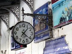 Station Clock (Lazy B) Tags: india travelling clock station railway 2006 february fz5 indianarchive tag1fromthe123travelpool