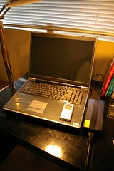 Sager 9750-V Notebook - Fresh Out the Box (jgraup) Tags: computer notebook ntsc amd glossy wireless 17 sager lcd bluetooth a64 1920x1200 wuxga nvidia multipal dvdrdl 100gb 9750 fx60 geforcego7800gtx 400ddr tvtunerwremote pctorque 9750v 7200rpmsata 2048mb 21024mb
