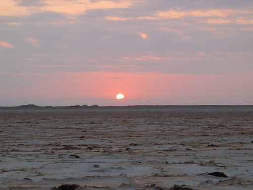 Sunrise over the salt