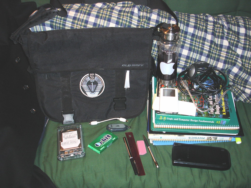 Contents of my messenger bag!