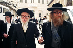Rabbi Hirsch and son by velvetart