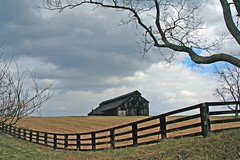 Barn, Fence, and Tree (code poet) Tags: sky tree topf25 beautiful topv111 topv2222 barn fence landscape topv555 topv333 lexington kentucky topv1111 topv999 100v10f creativecommons topv777 tobacco fayettecounty jackscreekpike