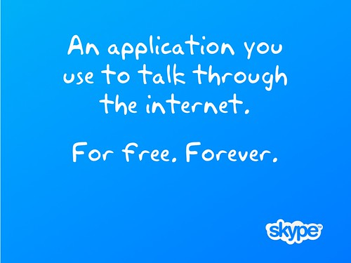 For free - skype