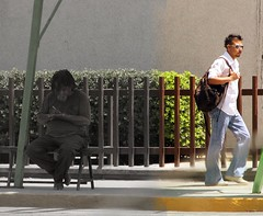 Pasado / Presente (eperales) Tags: old homeless young present past hobo monterrey