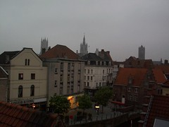 three towers in the evening (kdw_singulariteit) Tags: belgium ghent gent threetowers