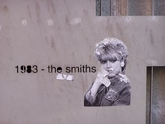 The Smiths (Neil101) Tags: uk england urban fence manchester sticker iron industrial kodak morrissey neil 1983 smiths hacienda thesmiths wilkinson z740 thehacienda abigfave neilwilkinson neil101 bbcmanchesterblog