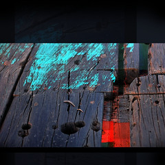 Planks turning abstract (Yorick...) Tags: blue red abstract texture colors square graphic yorick abigfave