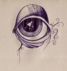 i-spy (mister milz) Tags: eye lines paper sketch drawing doodle curl