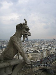 Sentinel (Pug!) Tags: paris france church freeassociation statue europe cathedral gothic gargoyle notre dame