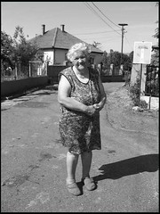 (orsike) Tags: street old woman spring hungary village happiness falu nni szomszd