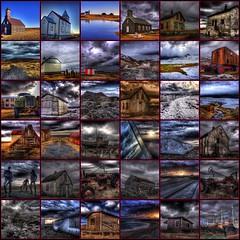 HDR mosaic ... (asmundur) Tags: sky abandoned nature dark iceland fdsflickrtoys outdoor mosaic rusty 2006 hdr darkskies photomatix asmundur