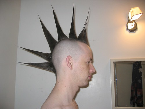 Spike Hair Style: Liberty Spikes Hairstyle: Mohawk, Front, Full