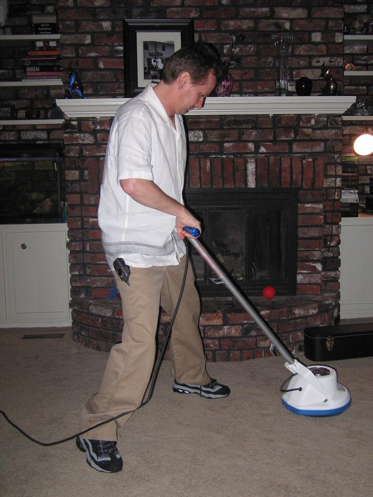 Steve Hindalong Demonstrates Carpet Cleaner