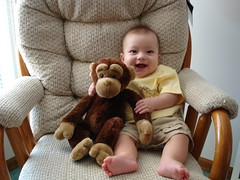 Mason and his monkey